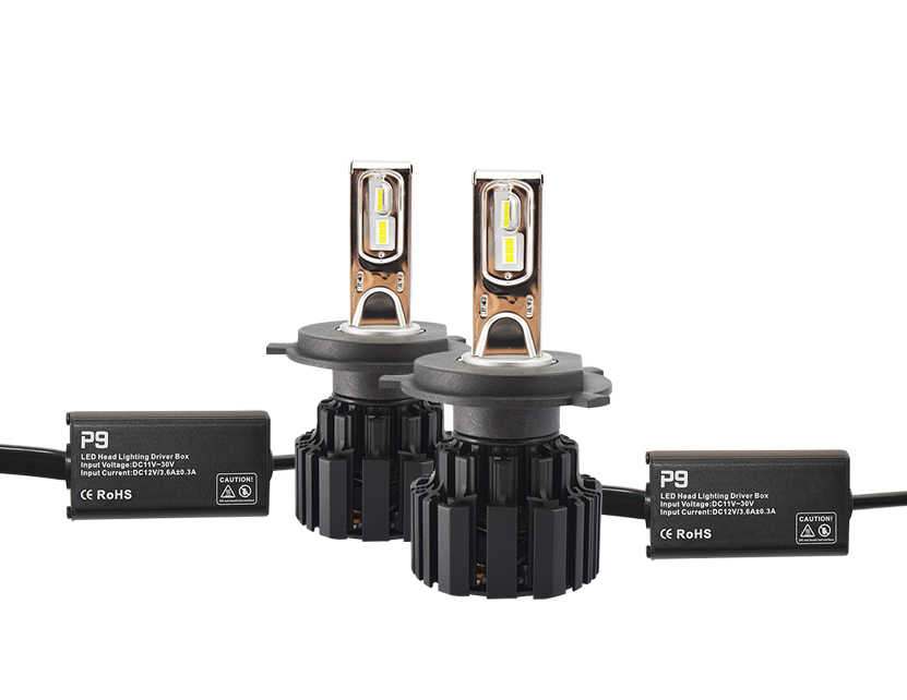 2pcs/pair Super bright P9 Car Led Headlight Bulb 100W 13600lm headlamp 6000K H4 H7 H11 9005 9006 9012 car headlight