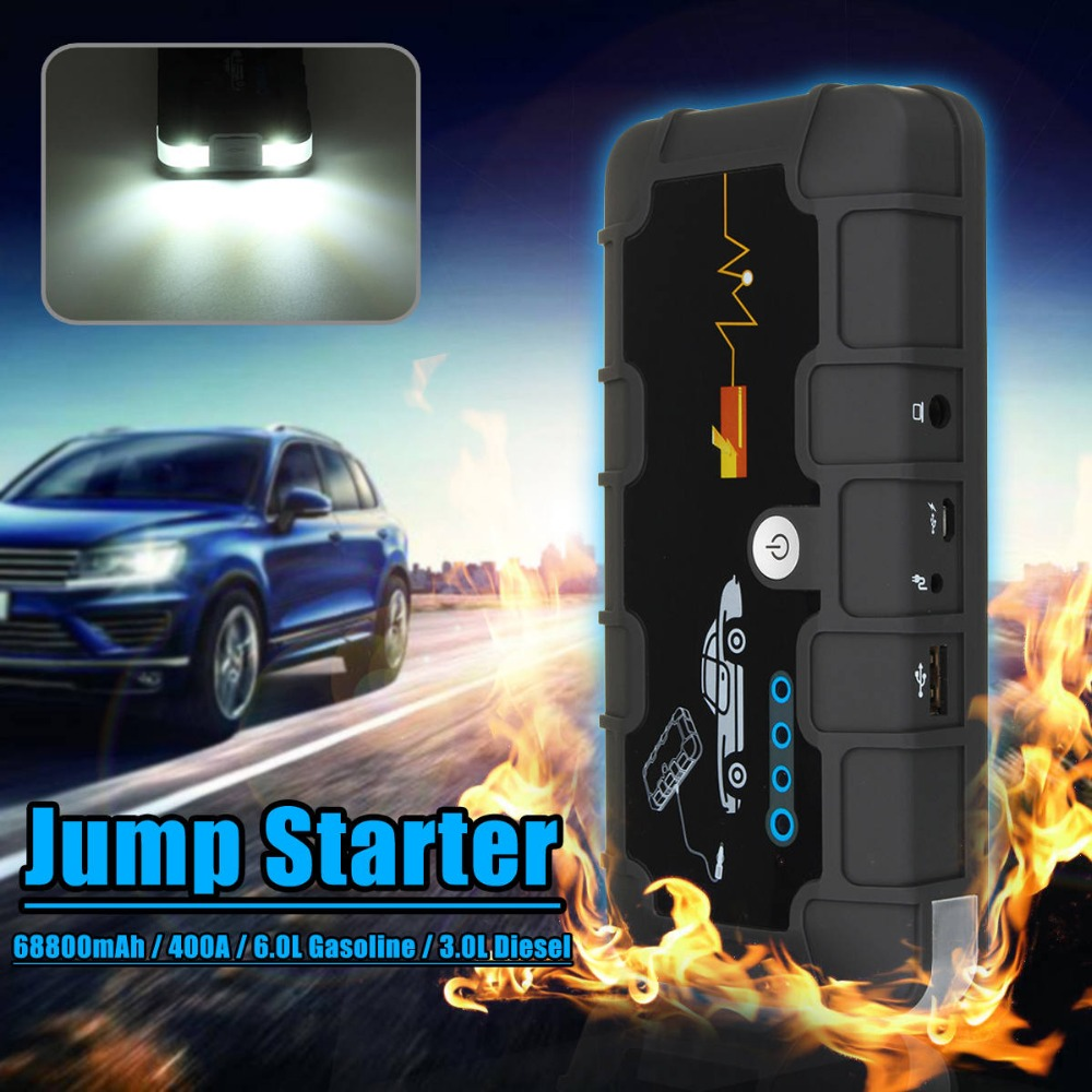 12V 68800mah Portable Car Jump Starter Pack Booster Charger Battery Power Bank 68800mah 12v car emergency power supply start battery charger engine booster power bank car jump starter support fast charge