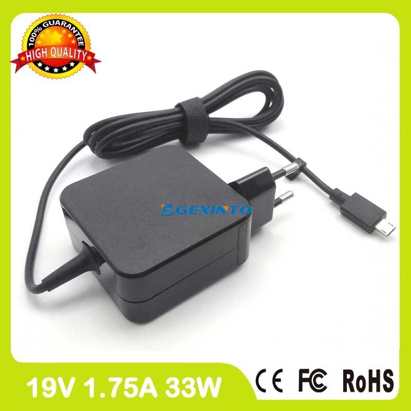 19 В 1.75A 33 Вт AC адаптер питания зарядное устройство для ноутбука ASUS eeebook X205T X205TA E200HA E202 E202SA E205 E205SA f205TA ...