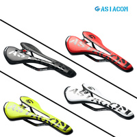 ASIACOM Carbon Leather Bicycle Soft Wide Saddle Road Bike MTB Seat Cushion Folding Mountain Bike Saddle Bicycle Parts