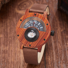 Creative Wooden Watch Men Wrist Watches Real Solid Natural W