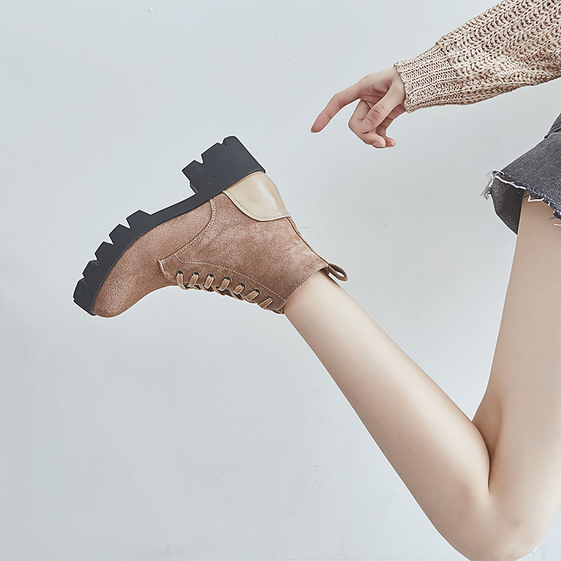 noir Femmes Femelle 2019 Noir Britannique Abricot De Jookrrix Respirant Apricot Style Mode Bottes Dame Automne Chaussures Marque Chaussure Ovm8Nnw0