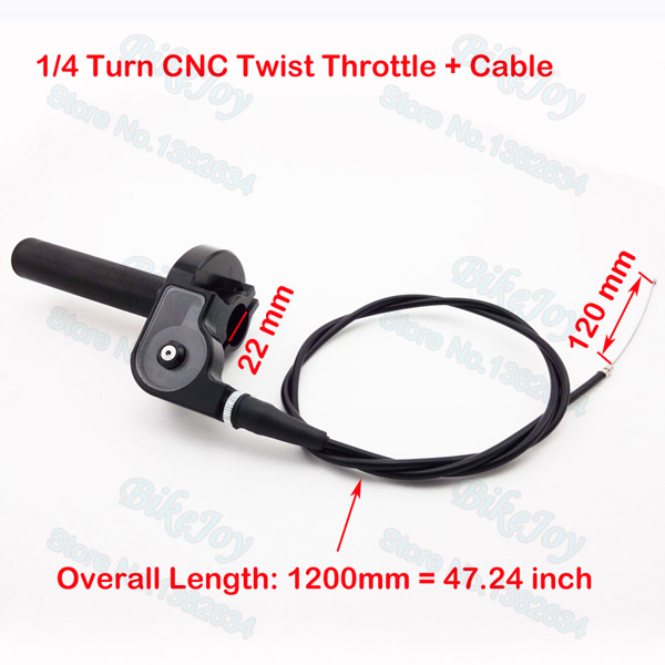 1 4 Turn CNC Twist Throttle W Cable For 110cc 125cc 150cc 160cc 200cc 250cc KX
