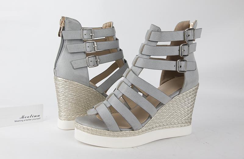 Gladiator Shoes, Women's Platform Wedges, High Heel Sandals, Rome Ladies Wedge Heels 18