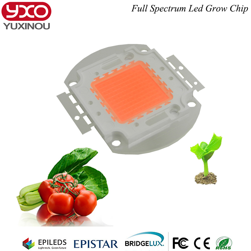 100W 60pcs 3w 100x1W led grow light chip full spectrum 380nm 840nm best for hydroponics greenhouse