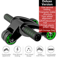 Black Green Motion Durable Abdominal Wheel Fitness Equipment Device Home Sit Ups Assistant Sucker Dance Outdoors Gym