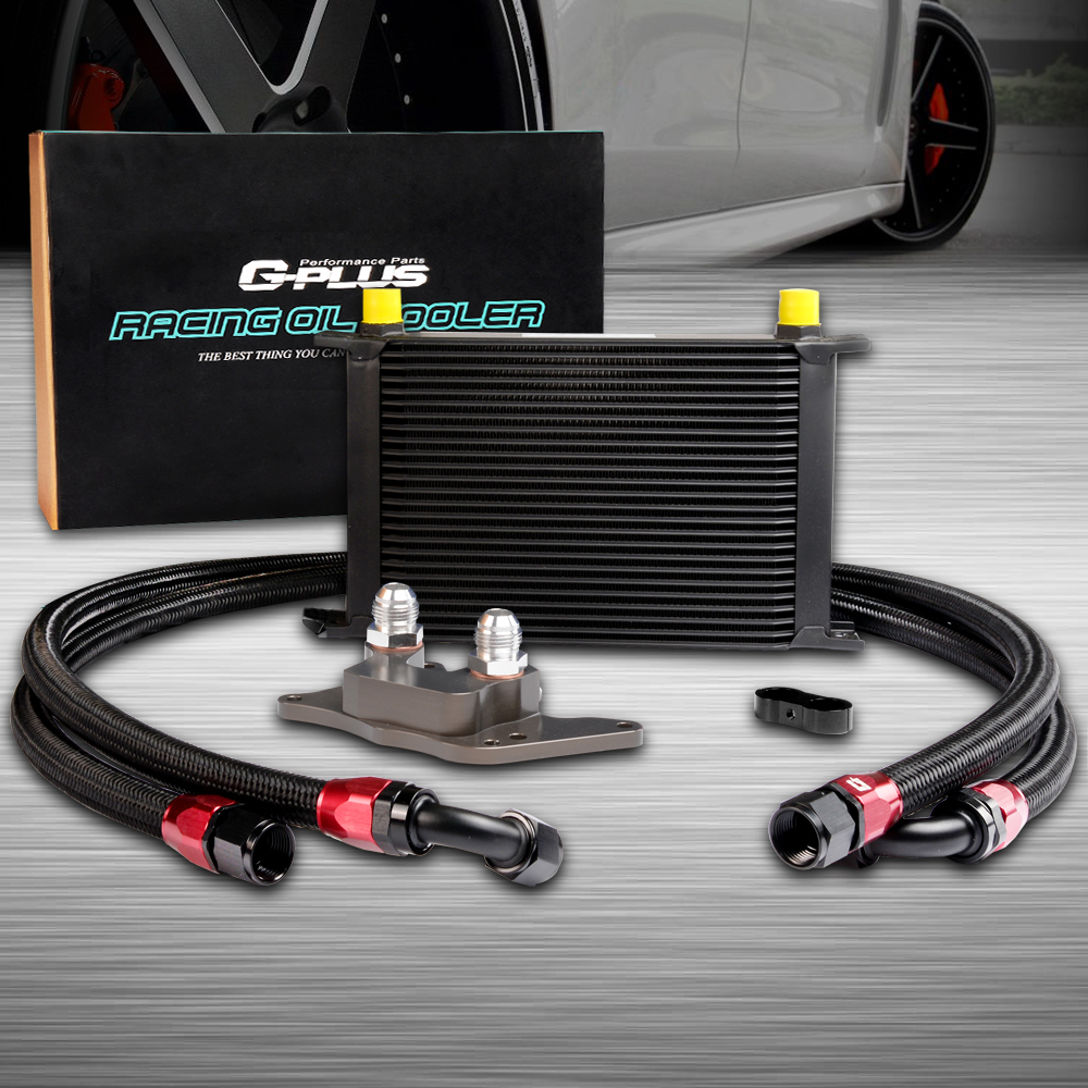 25ROW ENGINE OIL COOLER RELOCATION KIT FOR BMW MINI COOPER S R56 TURBO 06-12 Black 25row engine oil cooler relocation kit for bmw mini cooper s r56 turbo 06 12 bk