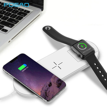 FDGAO Fast Charging Wireless Charger For iPhone X 8 XR XS Max For Apple Watch 2 3 10W Qi Charge For Samsung S8 S9 Plus Note 8 9