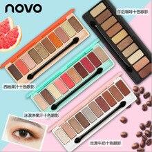 NOVO 10 Colors Eye Shadow Palette Glitter Matte Earth Color Makeup Cosmetics Eye