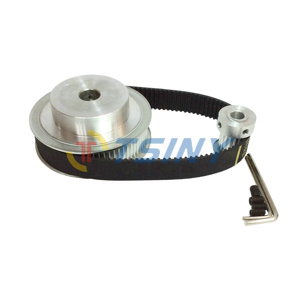 HTD 3M Timing Belt Pulley 4:1 72 Teeth and 18 Teeth Shaft Center Distance 90mm Engraving Machine Accessories - Belt Gear KitHTD 3M Timing Belt Pulley 4:1 72 Teeth and 18 Teeth Shaft Center Distance 90mm Engraving Machine Accessories - Belt Gear Kit