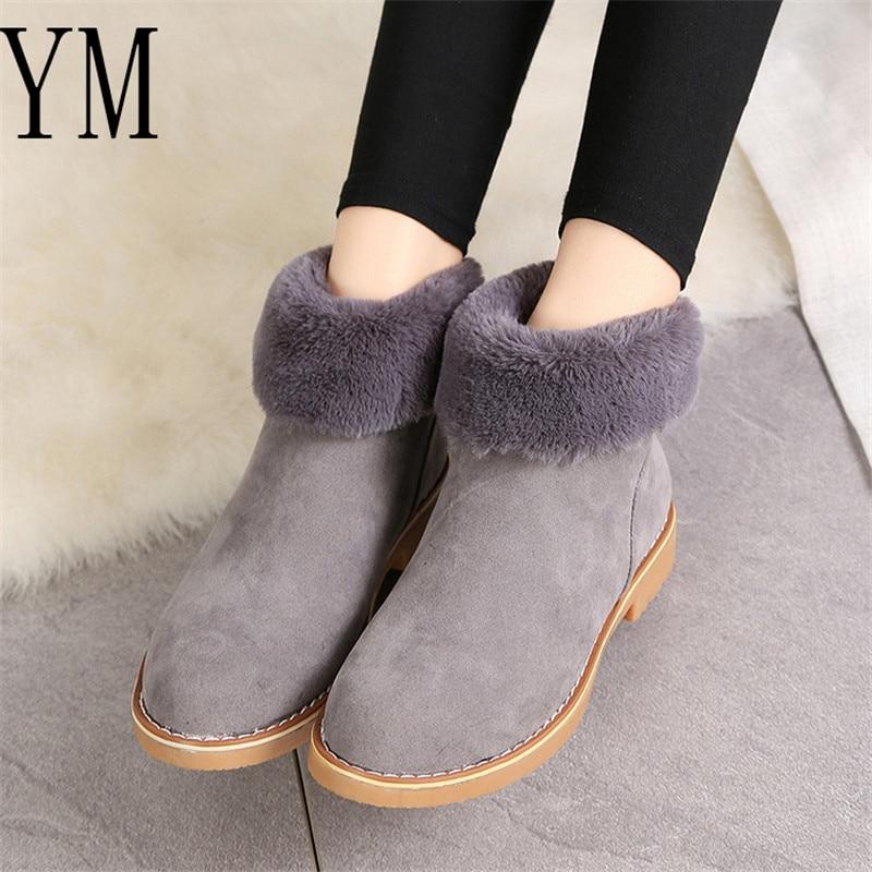 Corto Botas Faux Casual De Caliente Las Suede Invierno Nieve 40 Negro Bloque Zapatos gris Mujer Nuevo Fur Tacones 2018 Mujeres 35 Tobillo khaki Altos 5a8zZqInwx