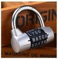 HOT Sliver Cor Mini 5 Carta Combinação Código do Cadeado de Senha Porta Casos Caixas de Correio de Bloqueio Bloqueio de Viagem Bagagem Mala