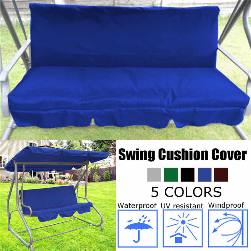 Garden Swing Cushion 5 Colors Waterproof Dustproof Chair Replacement Canopy Spare Fabric Cover Dust Covers 150CM 3 Seater