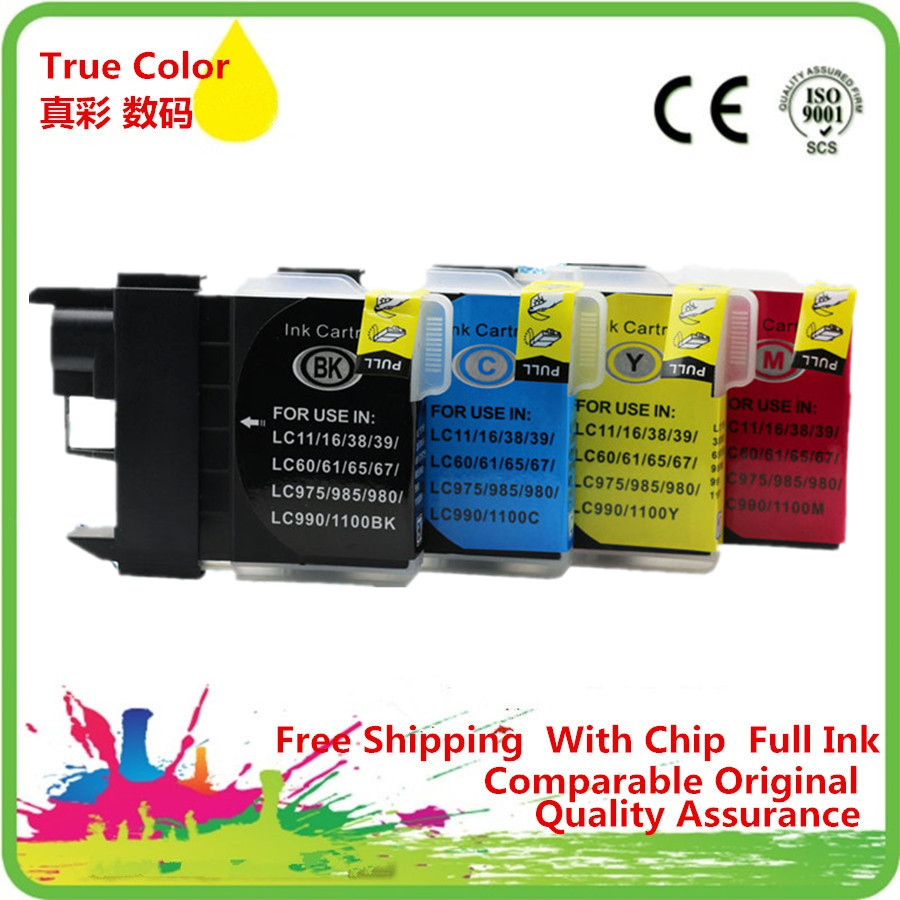 Replacement 20 x LC67 LC980 LC990 LC1100 Ink Cartridges For Brother MFCJ700DW MFC735CD MFC735CDN MFC790CW MFC795CW MFCJ800D