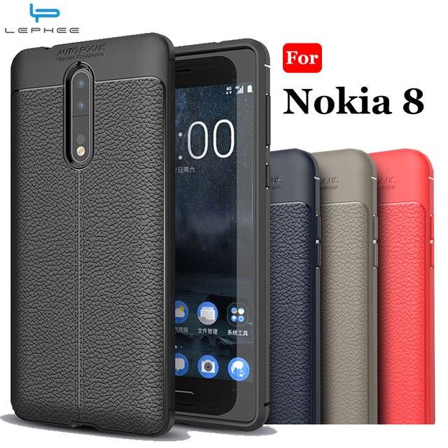newest cb9ff f6145 Aliexpress.com : Buy LEPHEE Original Case for Nokia 7 Plus 8 6 3 5 9  Silicone Cover Soft TPU Leather Pattern Cover for Nokia 8 Nokia6 Nokia 6  Nokia 3 ...