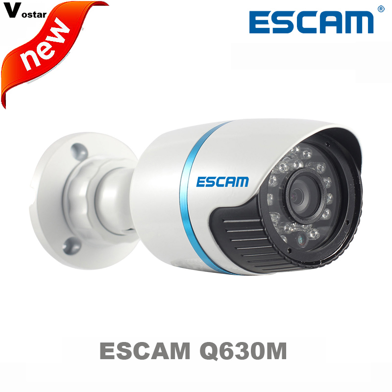 ФОТО Original ESCAM Q630M ONVIF 720P Network Mini IR Bullet Camera H.264 P2P Outdoor IP Camera IP66 network Waterproof  Camera