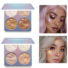 Professional New Makeup Face Powder 4 Colors Bronzer pigment  Highlighter Palette highlighter powder Kit