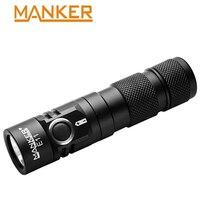 Manker E11 800 Lumen CREE XP L LED Flashlight Small Flashlight EDC AA Light 14500 Torch With Pocket Clip Mini Led Flashlight