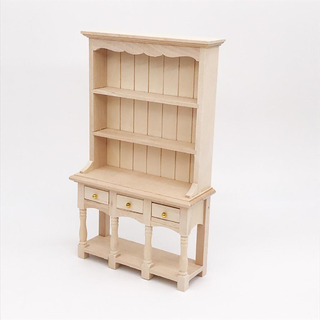 1 12 Mini Dollhouse Bookcase Furniture Cabinet Miniature