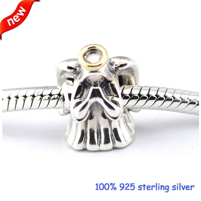 f698a918a Fits Pandora Bracelets Divine Angel Silver Beads 100% 925 Sterling Silver  Charms DIY Jewelry Wholesale 09305K
