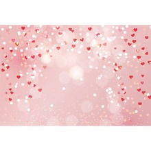 Laeacco Valentines Day Light Bokeh Starlike Love Hearts Fairytale Scene Photo Backdrops Photography Background For Studio