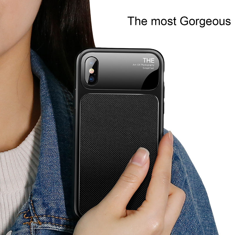 aliexpress com buy baseus luxury phone case for iphone x 10 capinhas soft tpu glass back cover fitted case for iphone 8 7 plus coque fundas from