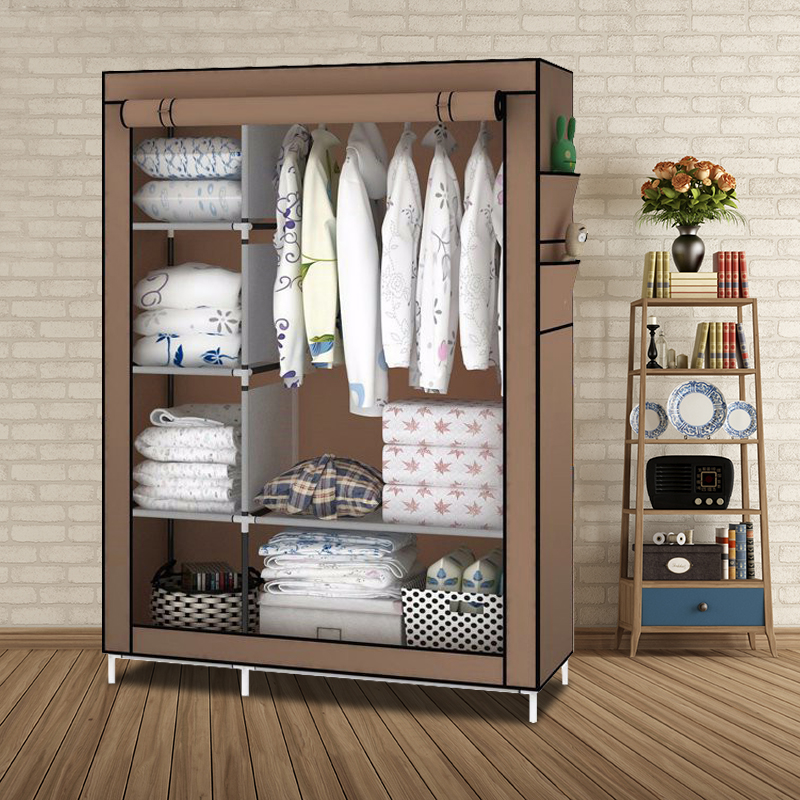 DIY Assamble Simple Folding Portable Clothes Closet Non-woven Wardrobe Fabric Clothes Storage Organize Cabinet прогулочная коляска carmella princess pink