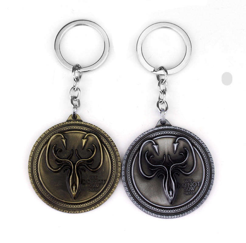 Game Of Thrones Series Keyring High Quality Glory Badge Keychain With Car Chain For Men Accessories