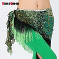 2017 New Belly Dance Accessories Dancing Wear Hip Scarf Peacock Costumes For Women Indian Dance Tassel Belly Dance Belt