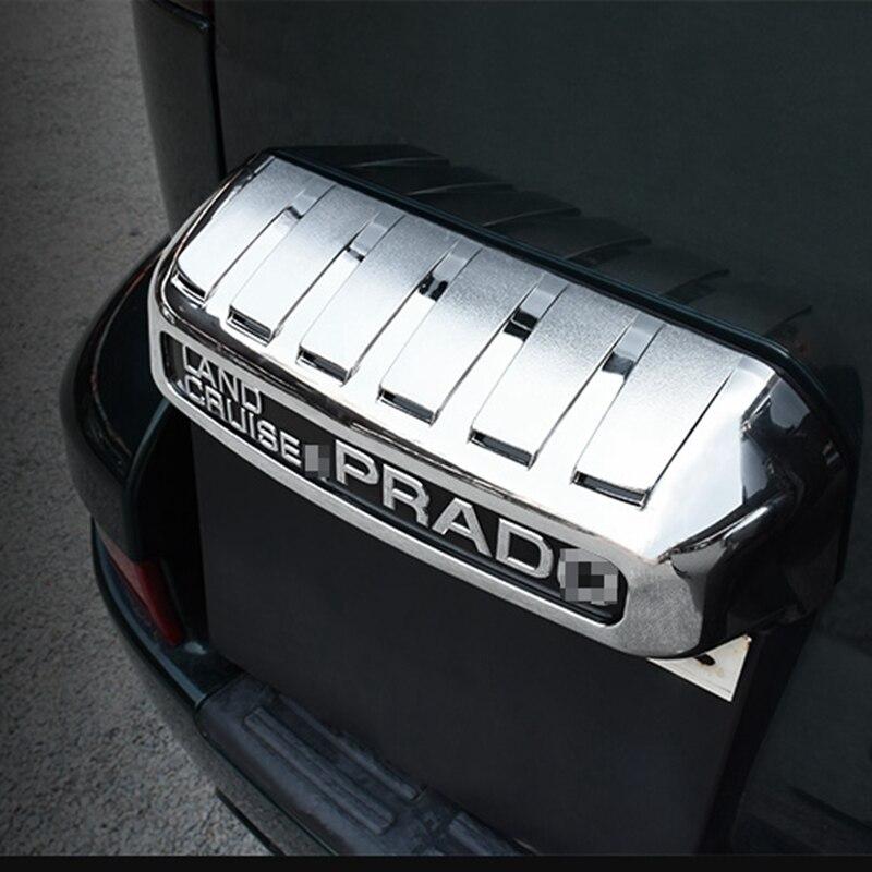 Car Styling For Toyota Land Cruiser Prado J120 2003 2004 2005 2006 2007 2008 2009 ABS Chrome Rear License Plate Frame Trim Cover