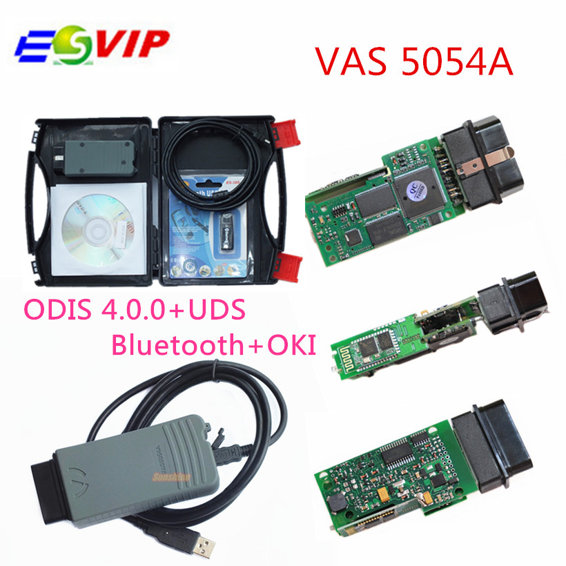 Free Shipping with Russian stock VAS 5054A Diagnostic Tool ODIS V3.0.3/4.13 Bluetooth Support UDS VAS5054A with OKI Full chip high quality vas5054a with oki full chip car diagnostic tool support uds protocol vas 5054a odis v4 13 bluetooth for audi for vw