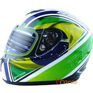 Image 4 - Vcoros รถจี๊ปใหม่มาถึง XS ขนาดรถจักรยานยนต์ฤดูหนาว full face หมวกกันน็อก capacete motoqueiro