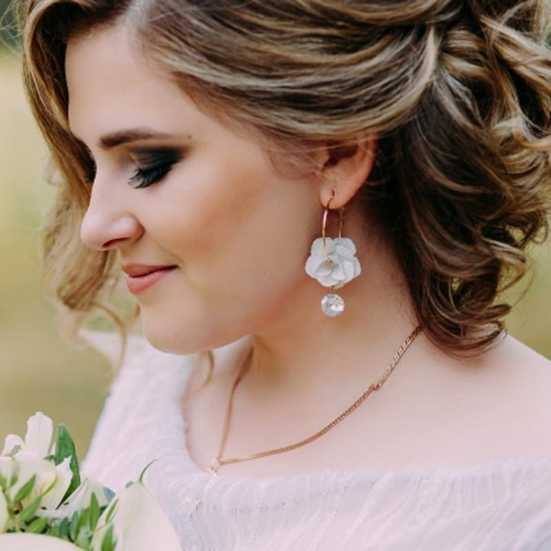 Dvacaman Brand Fashion Flower Drop Earrings Women Vintage Maxi Statement Charm Earrings Grils Party Jewelry Gifts Wholesale OO34