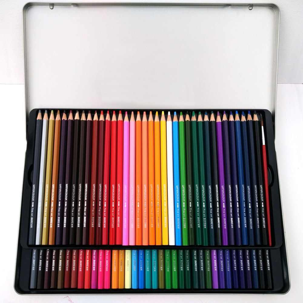 Baoke 72 soft colored pencils watercolor lapis de cor professional 72 cores non toxic lead