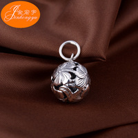 Sterling Silver Necklace Pendant pendant retro silver hollow carved spheres of men and women all match clavicle Pendant