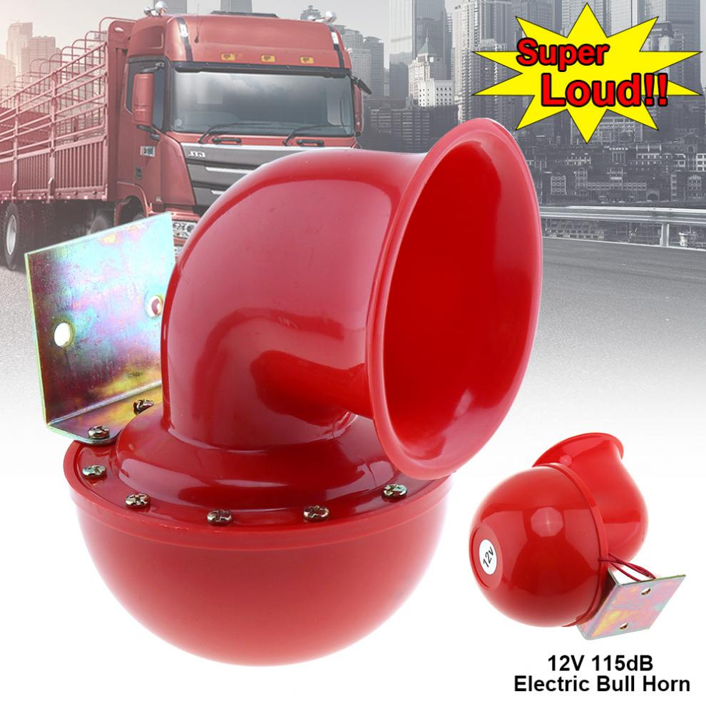 12V 115dB Red Electric Raging Bull Air Horn for Car / Truck / Motorcycle Trucks and Boats vodool 12v 125db car motorcycle truck horn compact electric pump air loud horn high quality for motorcycle car truck