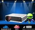 Caliente venta! 5500 lúmenes del proyector Full HD 1080 PWifi Android 4.2 RJ45 Smart Digital Video proyectores para cine en casa 2HDMI 2USB TV