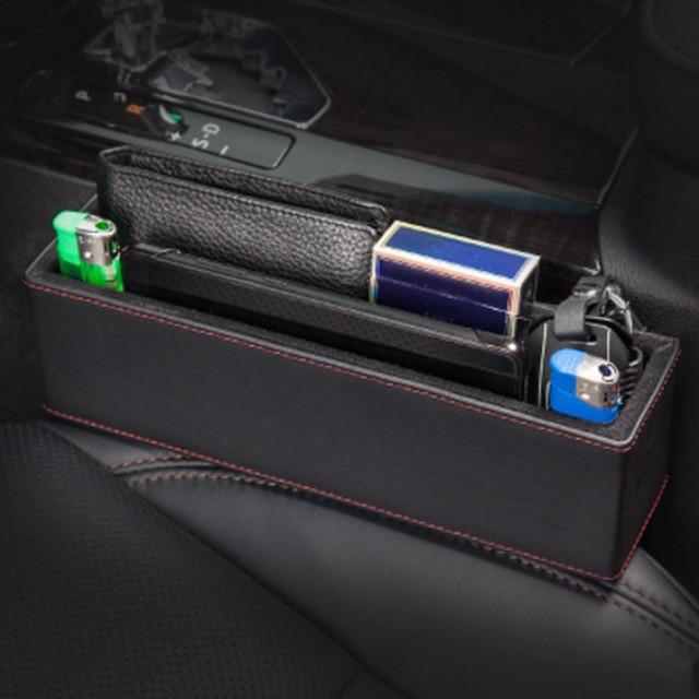 Car Seat Crevice Storage Box Grain Organizer Gap Pocket For Mitsubishi Lancer Outlander Pajero Eclipse Asx