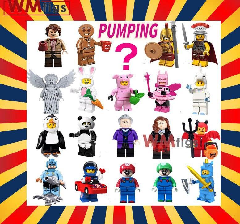 50PCS Lot Pumping series Friends Party Single Dragon Super Mario Building Blocks Cake Cartoon Bricks gift