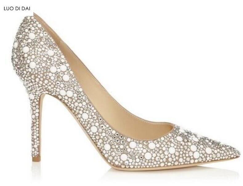 Femmes Boucles Toe Cm Diamant As Talon Arrivée 12 Perles Robe Soirée Pompes Nouvelle Haute Pic 2018 Mince Point Glitter De Talons Chaussures zEqUnwxYXp