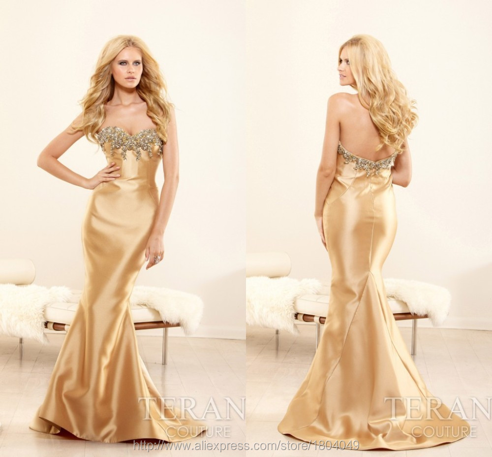 Luxury Couture elegant classic evening gowns sweetheart mermaid ...