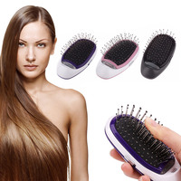 Portable Electric Hair Brush Negative Ions Hair Comb Brush Hair Care Comb Anti static Scalp Massage Beauty Hair Styling Tools