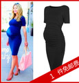 Maternity - ol one-piece dress spring and summer fashion maternity clothing summer one-piece dress midguts