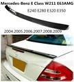 Спойлер из углеродного волокна для Mercedes-Benz E Class W211 E63AMG 2004-2009  спойлеры заднего крыла  высокое качество  автомобильные аксессуары