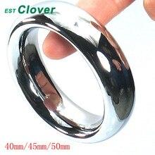 Топ из нержавеющей стали кольцо пениса тяжелые Эрекционные кольца секс кольца игрушки для мужчин 40/45/50 мм C108
