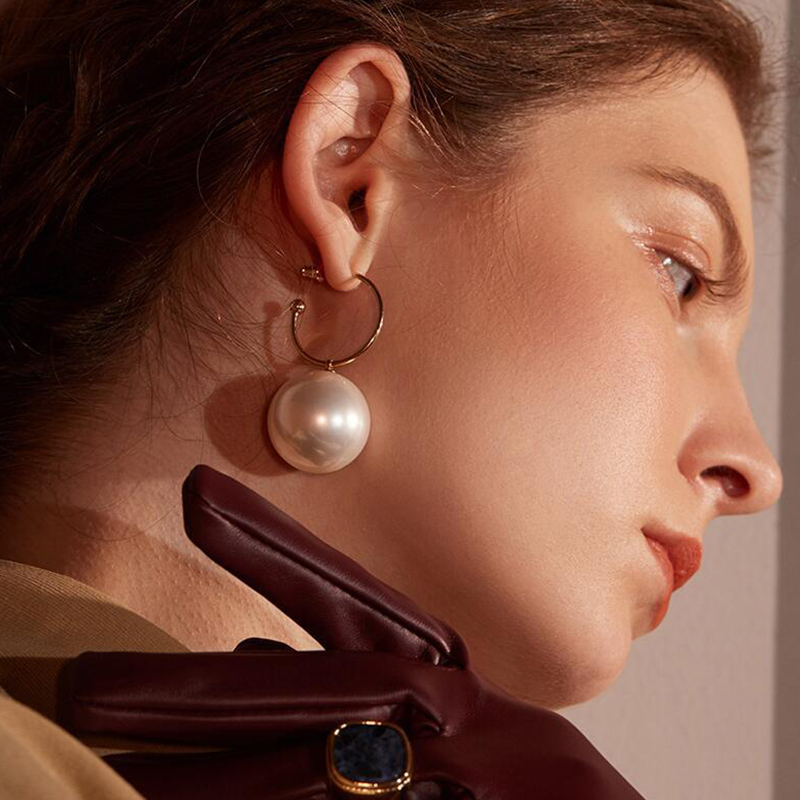 ZVZO Women New Fashion Pearl Earrings Personality Metal Geometry Water Drop Kinds of Exaggerated Drop Earrings for Women Jewelry