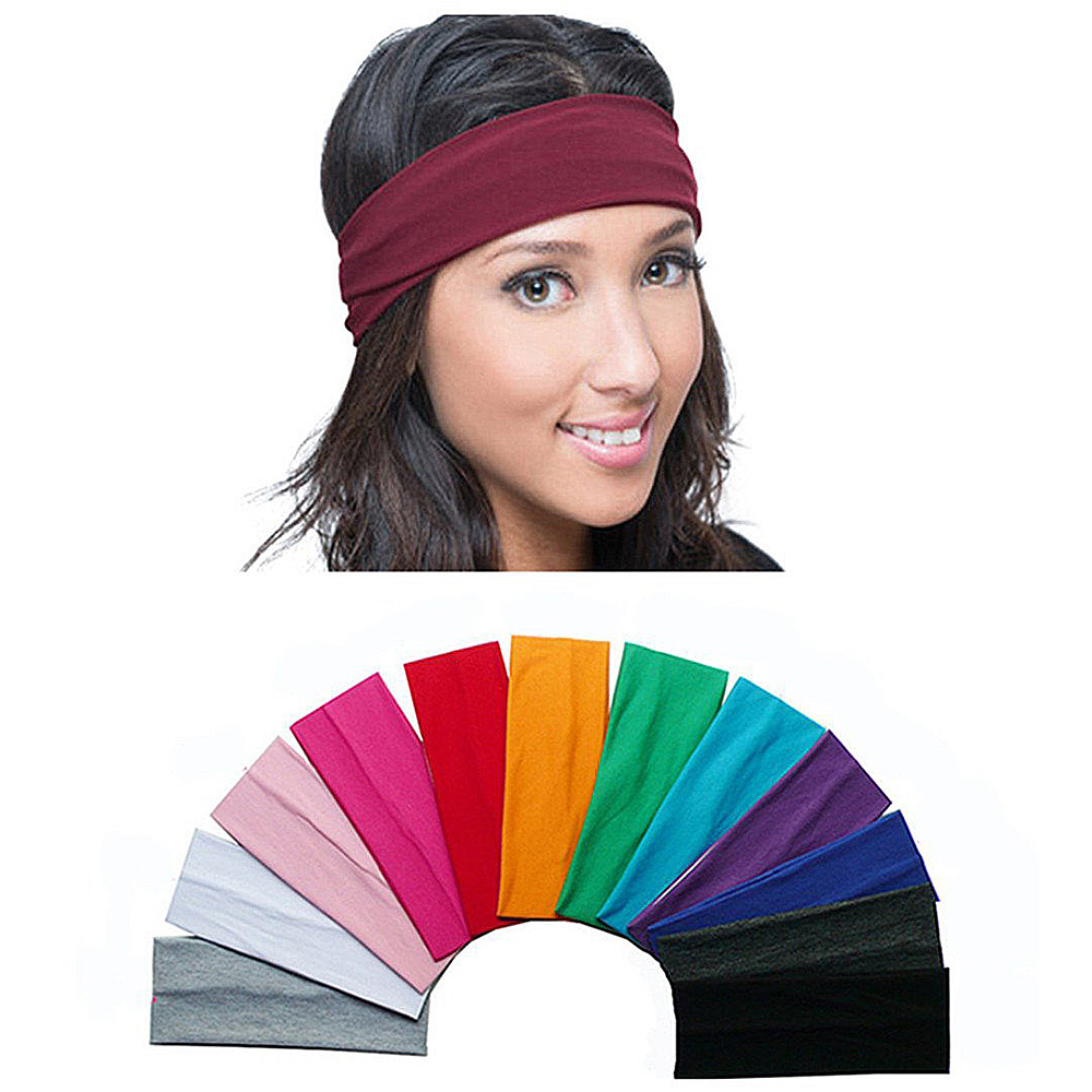Unisex Fitness Sports Headbands Yoga Stretch Hair Bands For Women Men Girls Elasticated Sweatband Sweat Bands Dropshipping