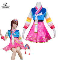 ROLECOS D Va OW Cosplay Costume Over Watch D VA Costume Korean Hanbok New Year Game