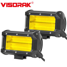 """VISORAK """" 84 Вт светодиодный рабочий светильник бар Offroad светодиодный туман светильник для внедорожных автомобилей джип 4x4 4WD ATV внедорожник грузовик светодиодный вождения светильник"""