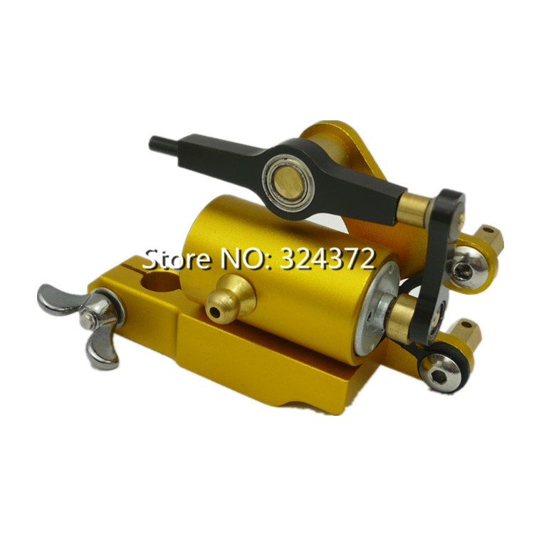 Hot Sell Professional Golden Rotary Tattoo Machine for Shader and Liner High quality Tattoo Gun Quiet Strong Power Body Art gun hot professional handmade tattoo gun for shader